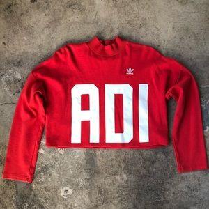 Adidas mock neck sweatshirt